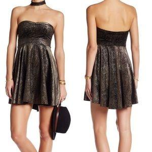 Free People Shattered Velvet Mini Dress